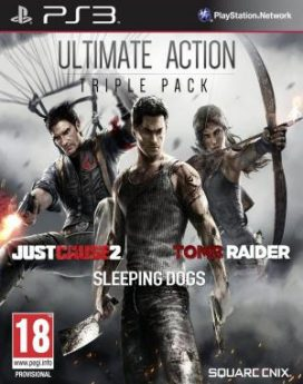 PS3 Ultimate action triple pack (just cause 2, tomb raider, sleeping dogs) infomark.hr