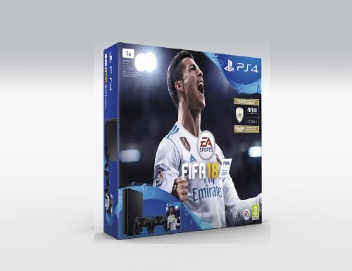PS4 Sony Playstation 4 Slim 1TB+FIFA18+ drugi joypad+ 14 dana PS Plus