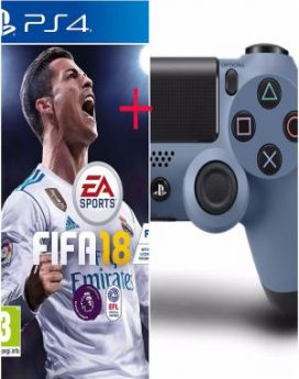 PS4 Fifa 18+Sony Dualshock Joypad Bundle