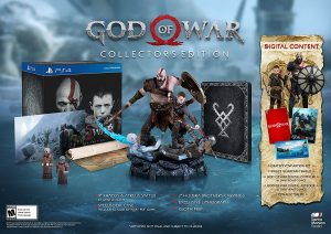 PS4 God Of War Collectors edition infomark