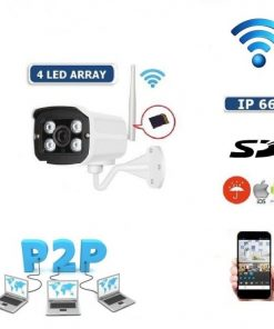 HD WIFI IP Camera 4 LED Infrared Wireless SD 3.6 mm Onvif