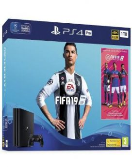 PS4 Sony PlayStation 4 1TB PRO+FIFA 19+14 Days PS Plus
