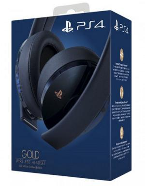 PS4 Sony Gold Wireless 500 Million Edition Headset