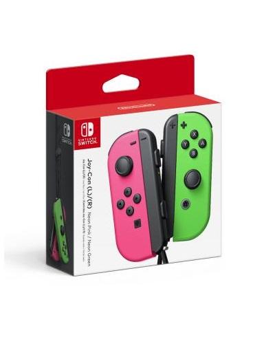 Nintendo Switch Joy Con Controller Green Pink