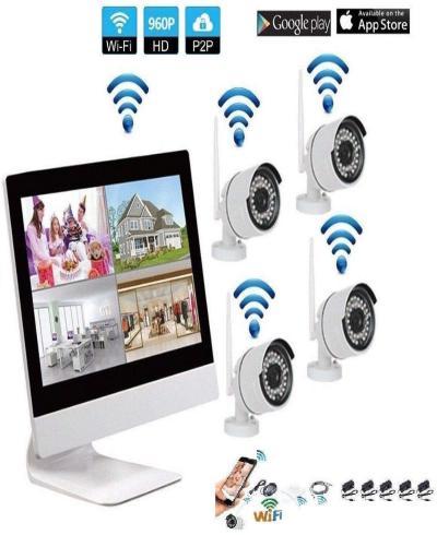 Video nadzor 4 wifi + hdd+ monitor 10