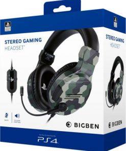Slušalice Bigben PS4 Stereo v3 Green Camo
