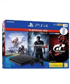 PlayStation 4 1TB F chassis + GT Sport + Horizon Zero Dawn CE + Uncharted 4