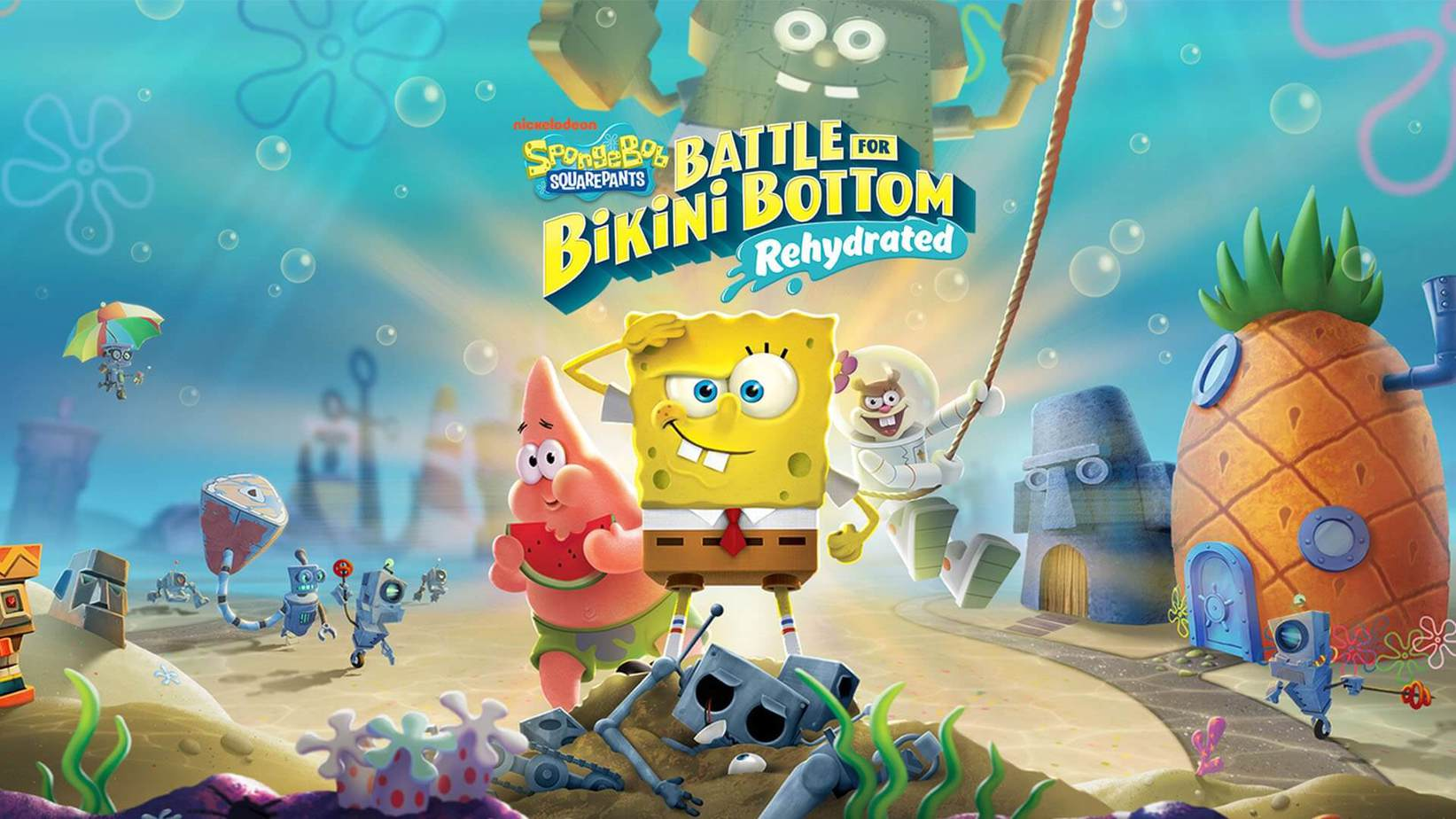 PS4 Spongebob SquarePants Battle for Bikini Bottom – Rehydrated (Spužva Bob) ok