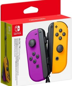 Nintendo Switch Joy Con Controller Neon PurpleOrange - Par