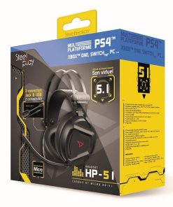 PS4 Steelplay Wired Headset 5.1 Virtual Sound HP51 Black